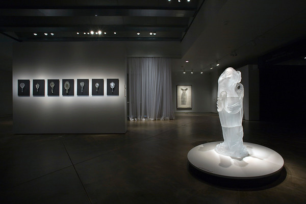 Absence Adorned exhibition with mirror and dress sculptures