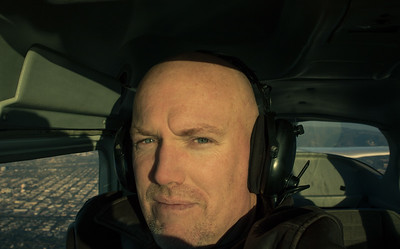 In the Cessna.