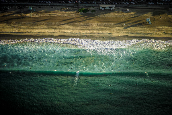 Aerial Photograph of El Porto in Manhattan Beach, California