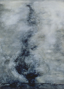 Temporal State, oil on prepared paper, image 72 x52cm Framed 92 x72 cm 1996