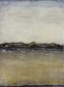 Boundary, oil on prepared paper, image 72 x52 cm Framed 92 x72 cm 1996