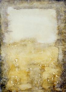 oil onprpeapred paper image 72 x52cm framed 92x72cm 1996