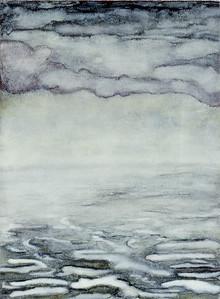 oil on prpepared paper image 72 x52cm Framed 92 x72 cm 1996
