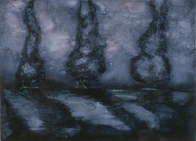 oil on prpeparee paper image 52 x72 cm Framed 72 x92cm 1996