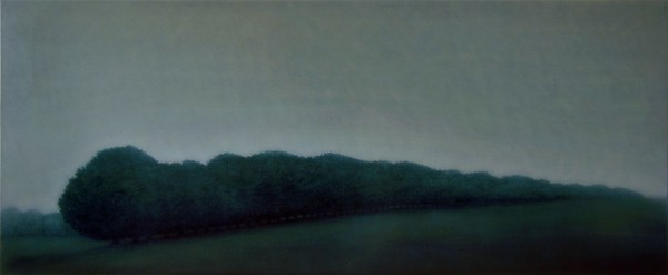 Boundary Hedge, oil on canvas 76 x183cm 2005 SOLD