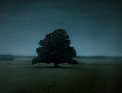 Dairy Farm Cypress oil on canvas 82 x107cm 2005 SOLD