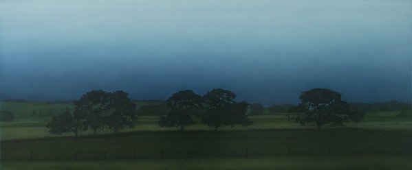 Back Road to Otways, oil on canvas 76x183cm 2008
