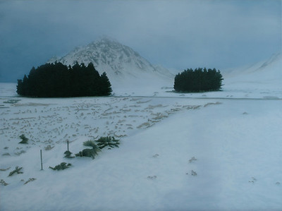 View from Kings House, oil on linen 137x183cm 2010