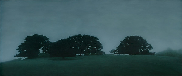 Russell's Creek Hill, oil on linen 76x183cm 2010