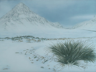Glen Coe Pass, oil on linen 137x183cm 2010