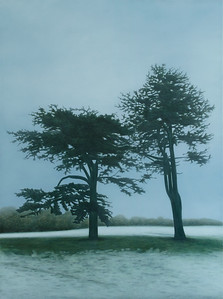 Yorkshire Snowfall, oil on linen 183x137cm 2010