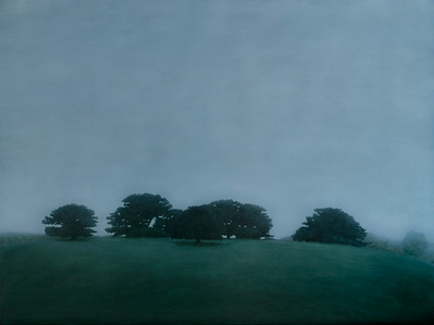 Cypress Hilltop, oil on linen 137x183cm 2010