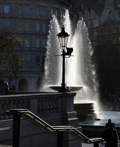 Terry Stoten - Trafalgar Fountain. Winner, Brzostowski Cup for Best Print.