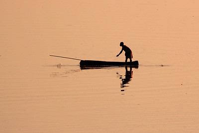 Lone Fisherman - Annie Nash. Commended, Prints.