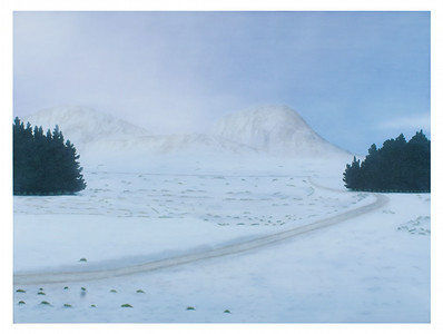 Snow Landscape with Pines, oil on linen 137 x183cm P.O.A.(mel)