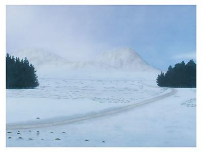 Snow Landscape with Pines, oil on linen 137 x183cm P.O.A.(mel)