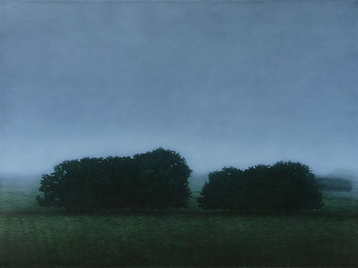 Farm Hedges in Winter, oil on linen 137 x183cm