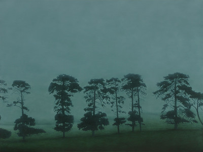 Row of Pines, oil on linen 137x183cm