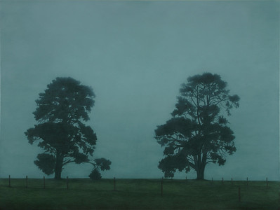Top Paddock, oil on linen 137x183cm