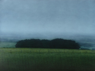 South West Hedge, oil on linen137x183cm