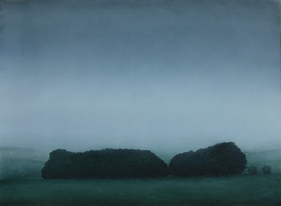 South West Winter, oil on prepared paper, image 52 x72 cm Framed 72 x92 cm