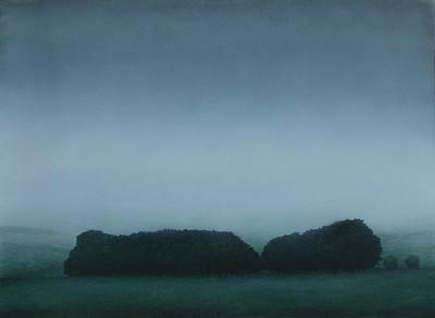 South West Winter, oil on prepared paper, image 52 x72 cm Framed 72 x92 cm