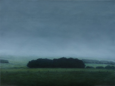 Farm Windbreaks, oil on linen 76x102cm