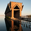 Iron Ore Dock - Church Reflection - Presque Island, Michigan - May 2010
