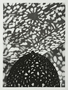 Lantern #8, charcoal on paper image 72 x52cm Framed 92 x72cm 2013