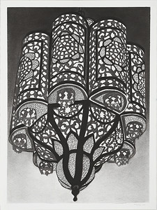 Suspended lantern #3, charcoal on paper image 72 x52 cm Framed 92x72cm P.O.A. (mel)
