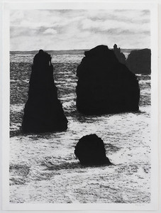 South West Coast #1, charcoal on paper 71 x51 cm Framed 93 x72 cm SOLD
