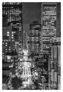 San Francisco At Night (60 H x 40 W)