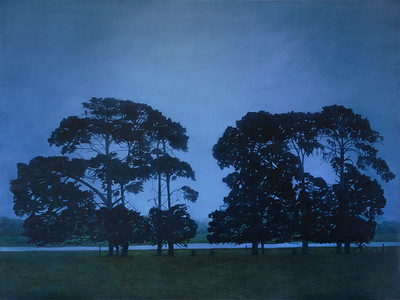 Evening Pines , oil on linen 2015 SOLD