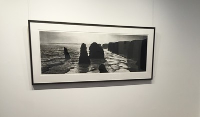 Twelve Apostles , charcoal on paper diptych 52 x148cm SOLD