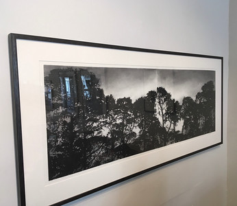 Railway Pines charcoal on paper framed 72 x170cm $6,500