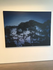 Pines at Twilight, oil on linen 137 x183cm 2017 $16,500 AUD