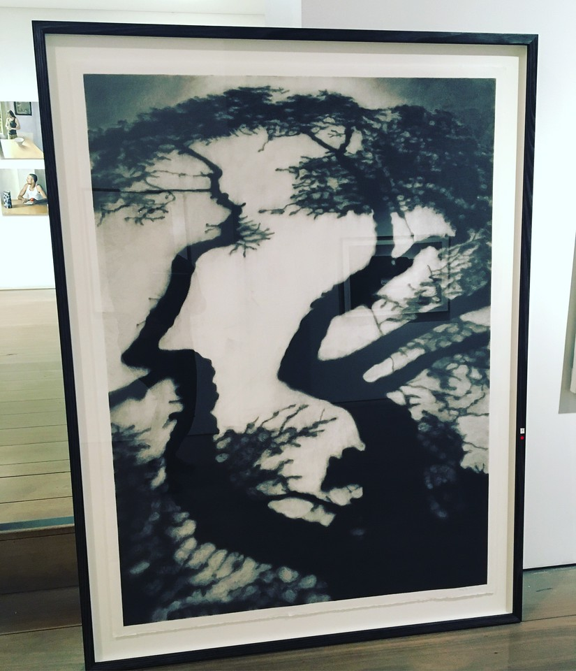 The Long Shadow, charcoal on paper framed 136x106cm SOLD