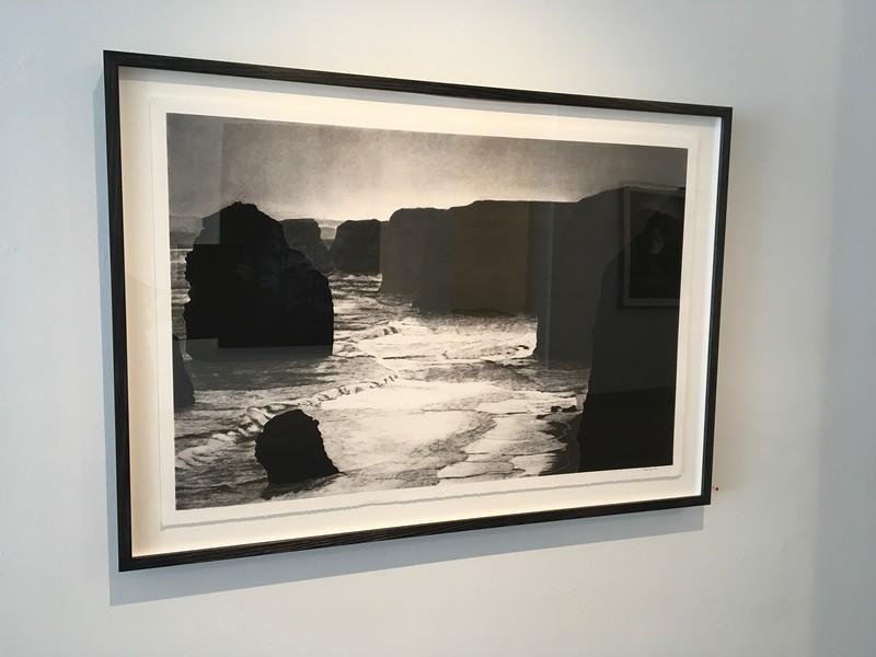 Coastline, Twelve Apostles, charcoal on paper framed 86 x123cm SOLD