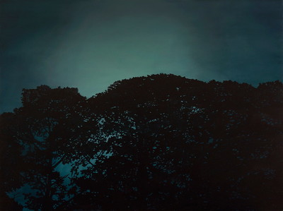 Nocturnal Pines, oil on linen 137x183cm 2016 SOLD