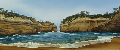 Loch Ard Gorge 3, oil on linen 76 x183cm 2018