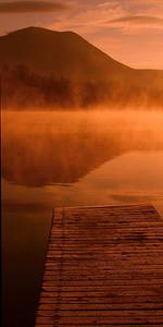 7571-BSP Daisy Pond sunrise dock printed 10x20