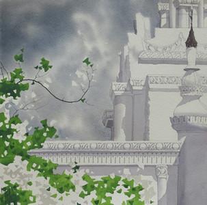 Moe Nyo, Poem (11). Watercolour, 2014. 11 X 11 in.