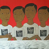 Min Zaw, Ordinary People (9). Acrylic on canvas, 2014. 50 X 36 in.