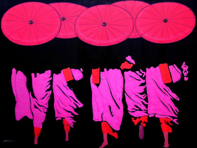 S. Moe Z., Deep Shade (8), Acrylic on canvas; 2010. 48 x 36 in.
