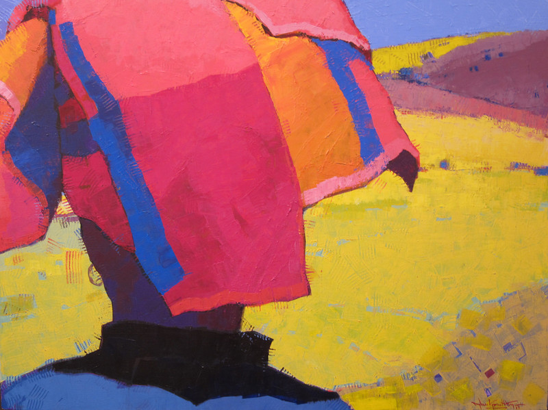 Than Kyaw Htay, Turban (7), Acrylic on canvas; 2013. 54 x 42 in.
