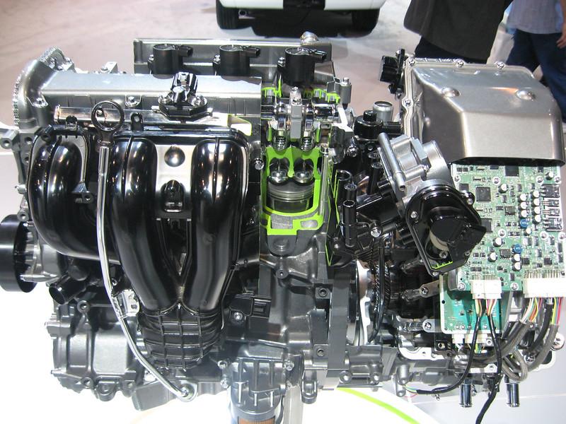 Mercury Mariner Hybrid Powertrain cutaway