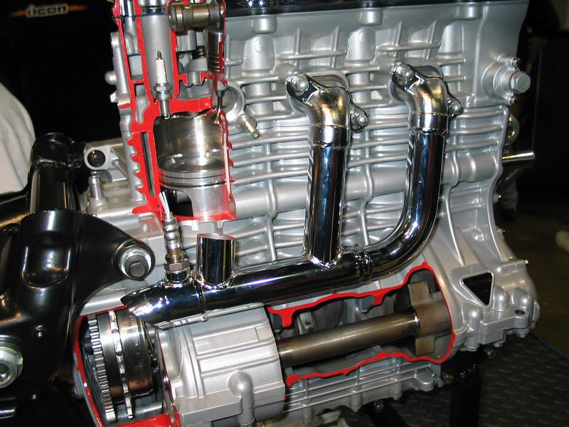Triumph Rocket III engine cutaway