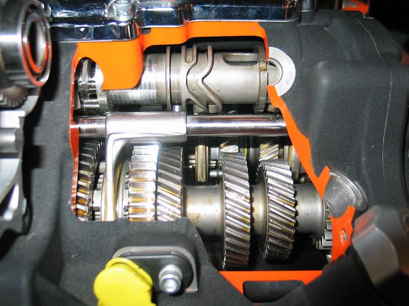 Cutaway Harley Davidson transmission