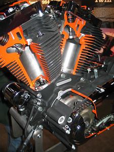 Cutaway Harley Davidson engine