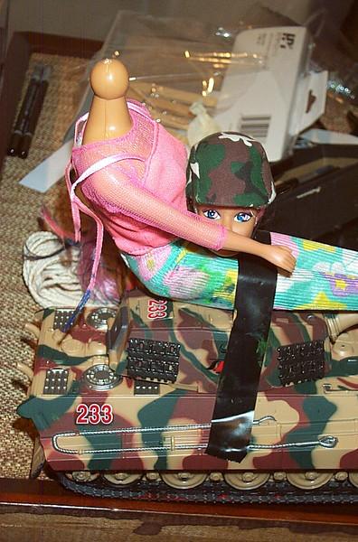 Combat Barbie Head